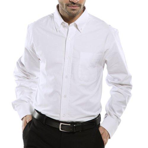 Beeswift Long Sleeve Oxford Shirt White 15.5inch OXSLSW15.5