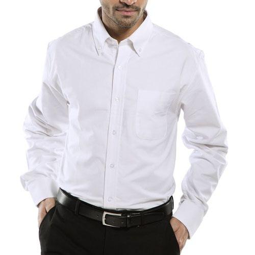 Beeswift Long Sleeve Oxford Shirt White 16.5inch OXSLSW16.5