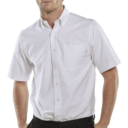 Beeswift Short Sleeve Oxford Shirt White 17.5inch OXSSSW17.5