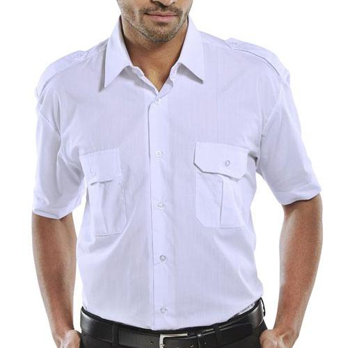 Beeswift Short Sleeve Pilot Shirt White 19inch PSSSW19