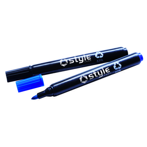Style CORE Drywipe Bullet Tip Marker Blue