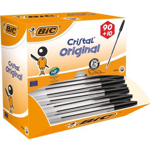 BIC Cristal Original Ballpoint Pen Medium Black 896040