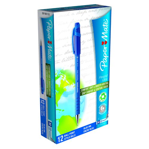 Paper Mate Flexgrip Ballpoint Pen Medium Blue S0190153