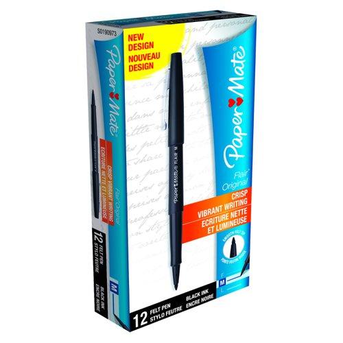 Paper Mate Flair Fineline Marker Pen Black S0190973