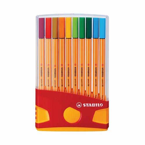 Stabilo Point 88 Fineliner Pen 0.4mm Assorted Colours (20) 8820-03