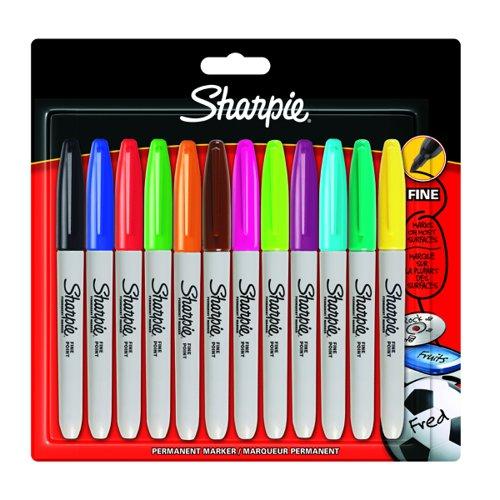 Sharpie Fine Marker Assorted Colours (12) S0811070