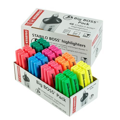 Stabilo BOSS Highlighter Assorted Colours (48)