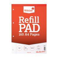 Silvine Refill Pad A4 Feint Ruled & Margin 75gsm 160pages A4RPFM