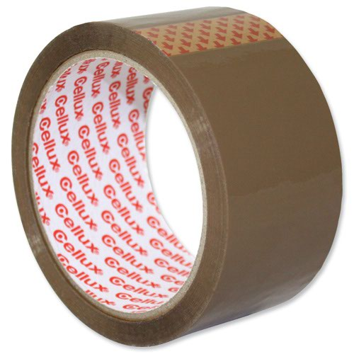Sellotape Cellux Tape 48mm x50m Buff 0550