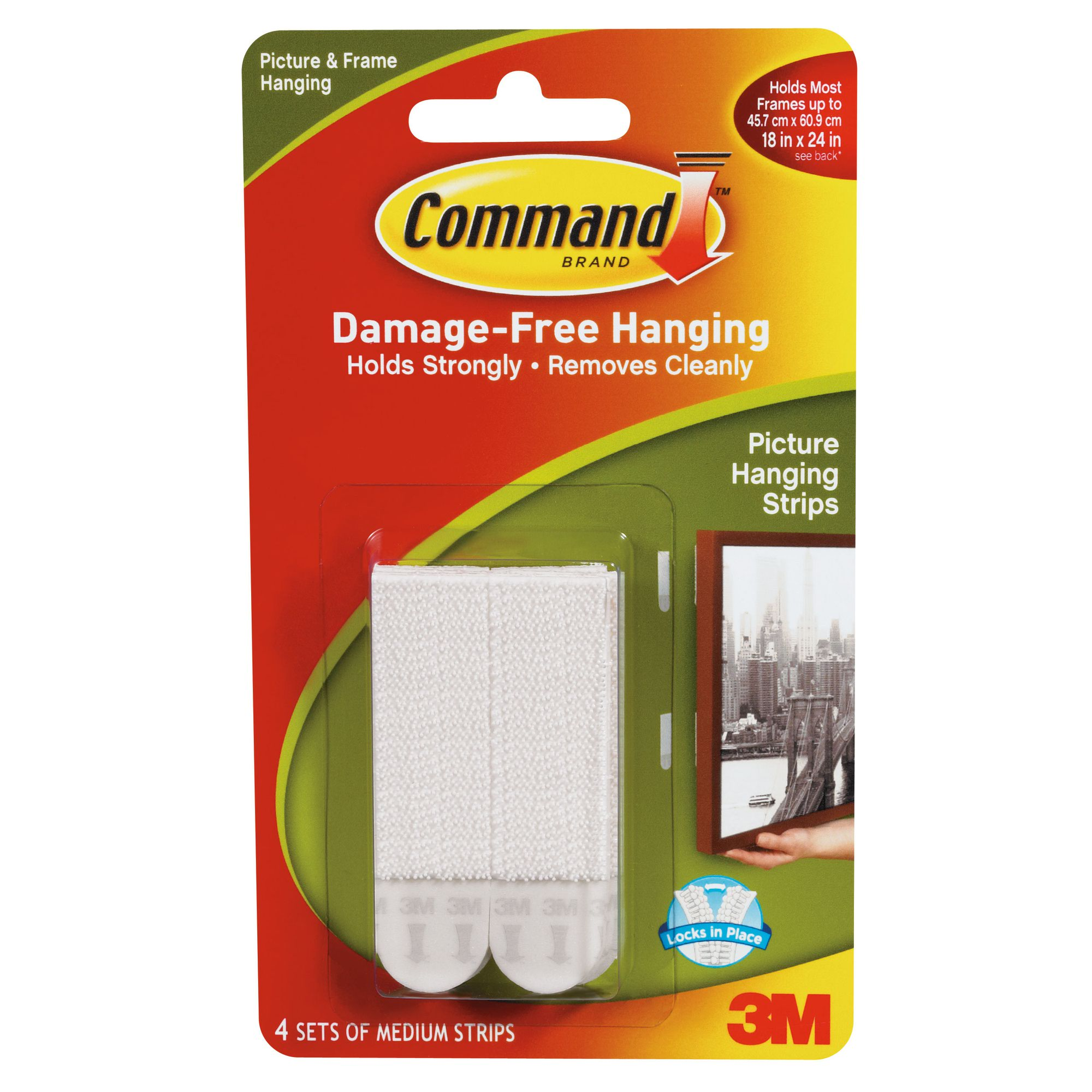 3M Command Adhesive Medium Picture Hanging Strips (4)