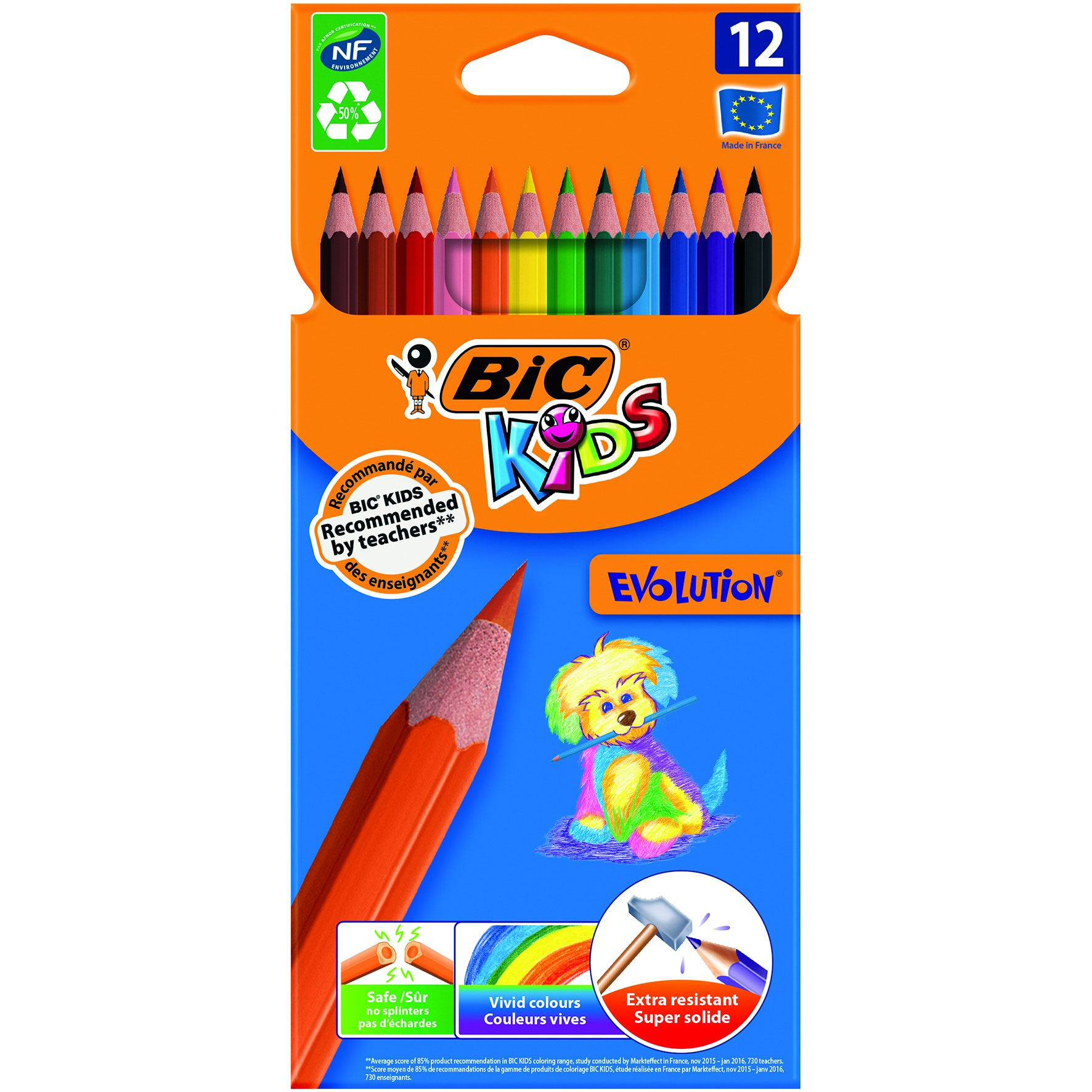 BIC KIDS Evo Colouring Pencils (12) 829029