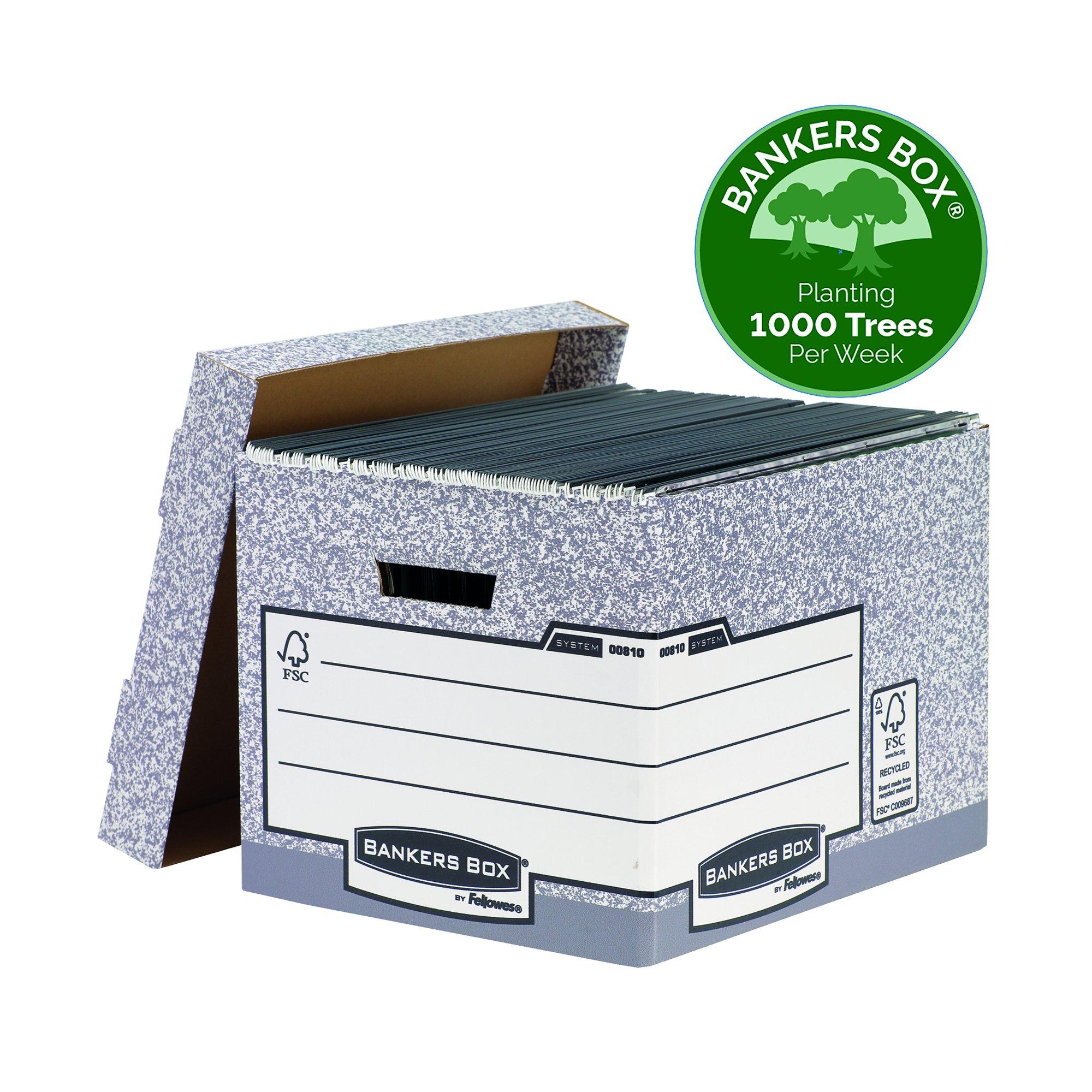 Fellowes Bankers Box System Storage Box Standard Grey 00810-FF