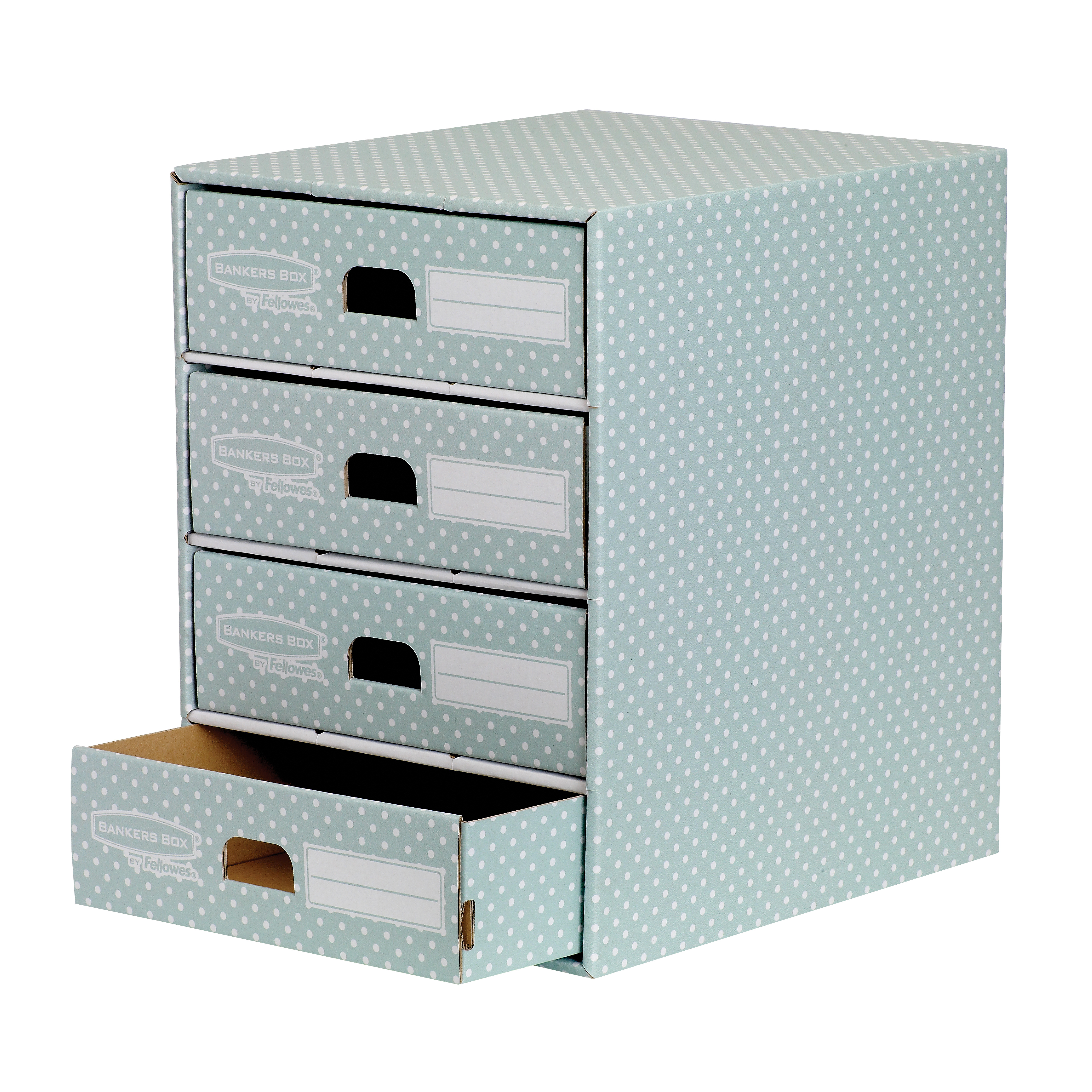 Fellowes Bankers Box 4 Drawer Unit Green/White 4481701