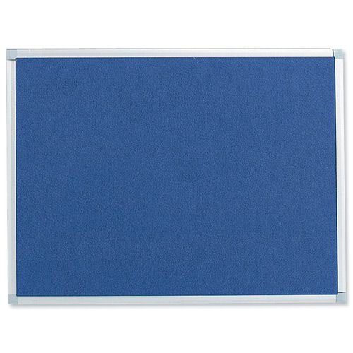Value Noticeboard Aluminium Frame 1200x900mm Blue