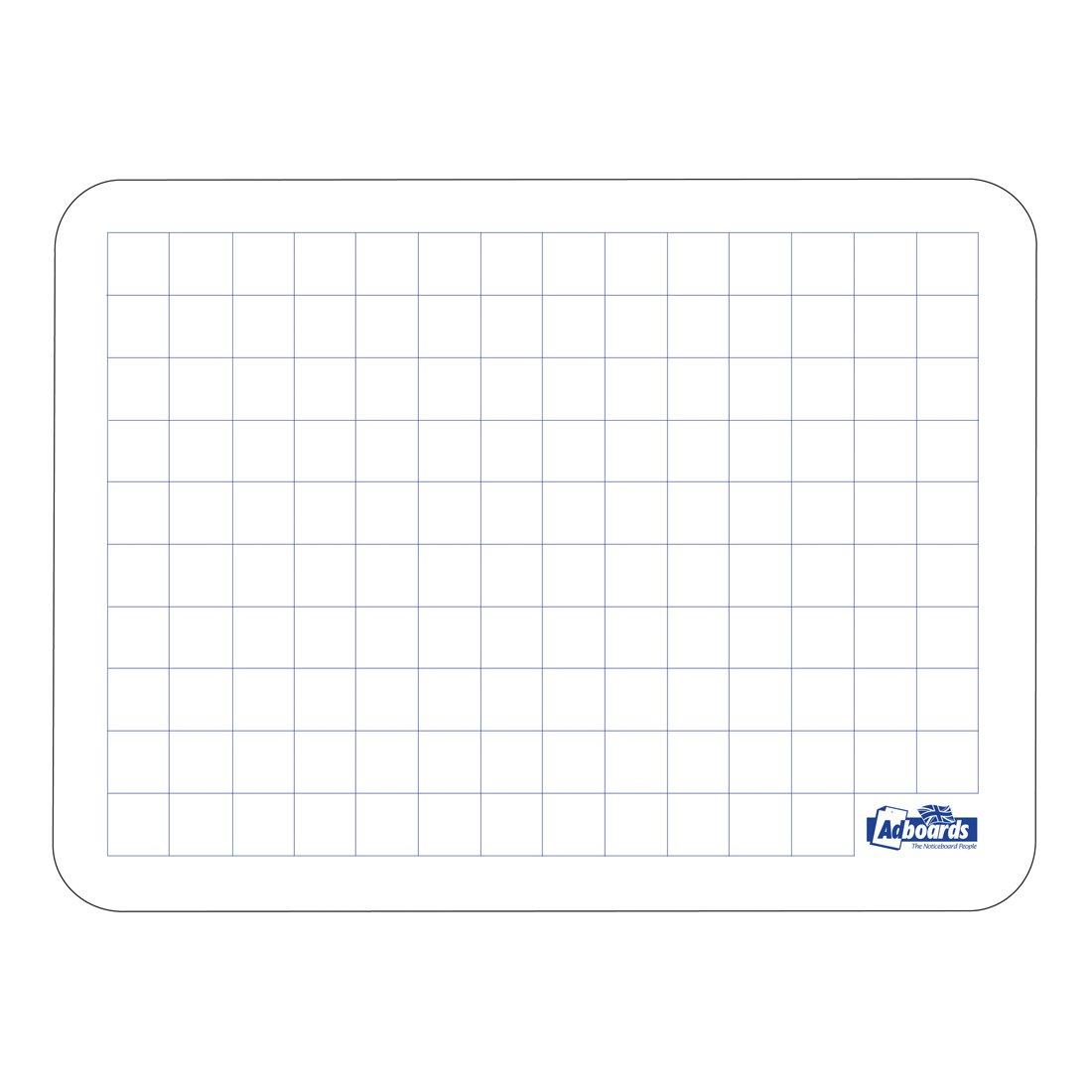 Adboards Plastic Lap Board A4 Grid 20mm/Plain (10) JUFG-10A4-99