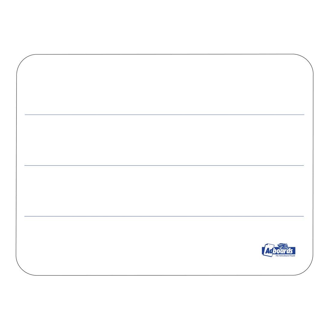 Adboards Plastic Lap Board A4 3 Line/Plain (30) JUF3-30A4-99