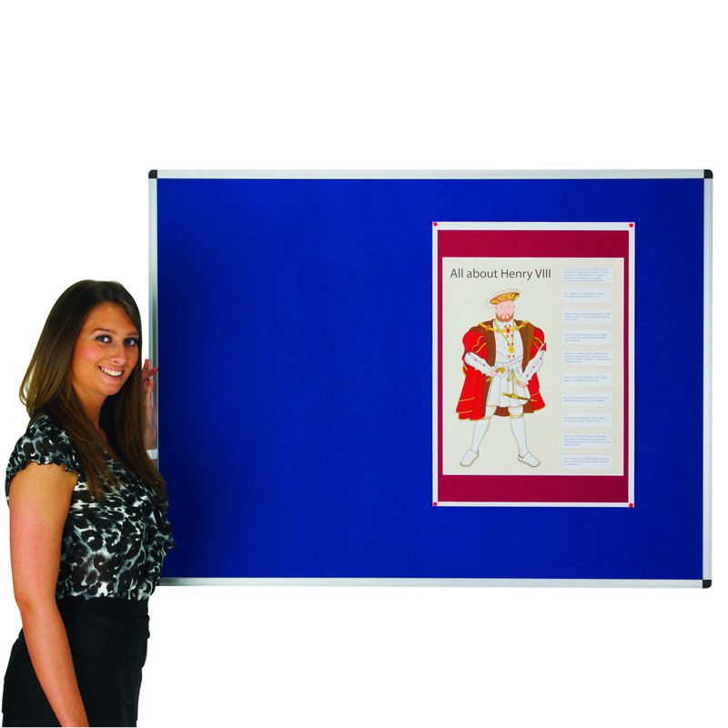 Adboards Classic Felt Noticeboard 1200x900mm Blue NCFT-1209-01