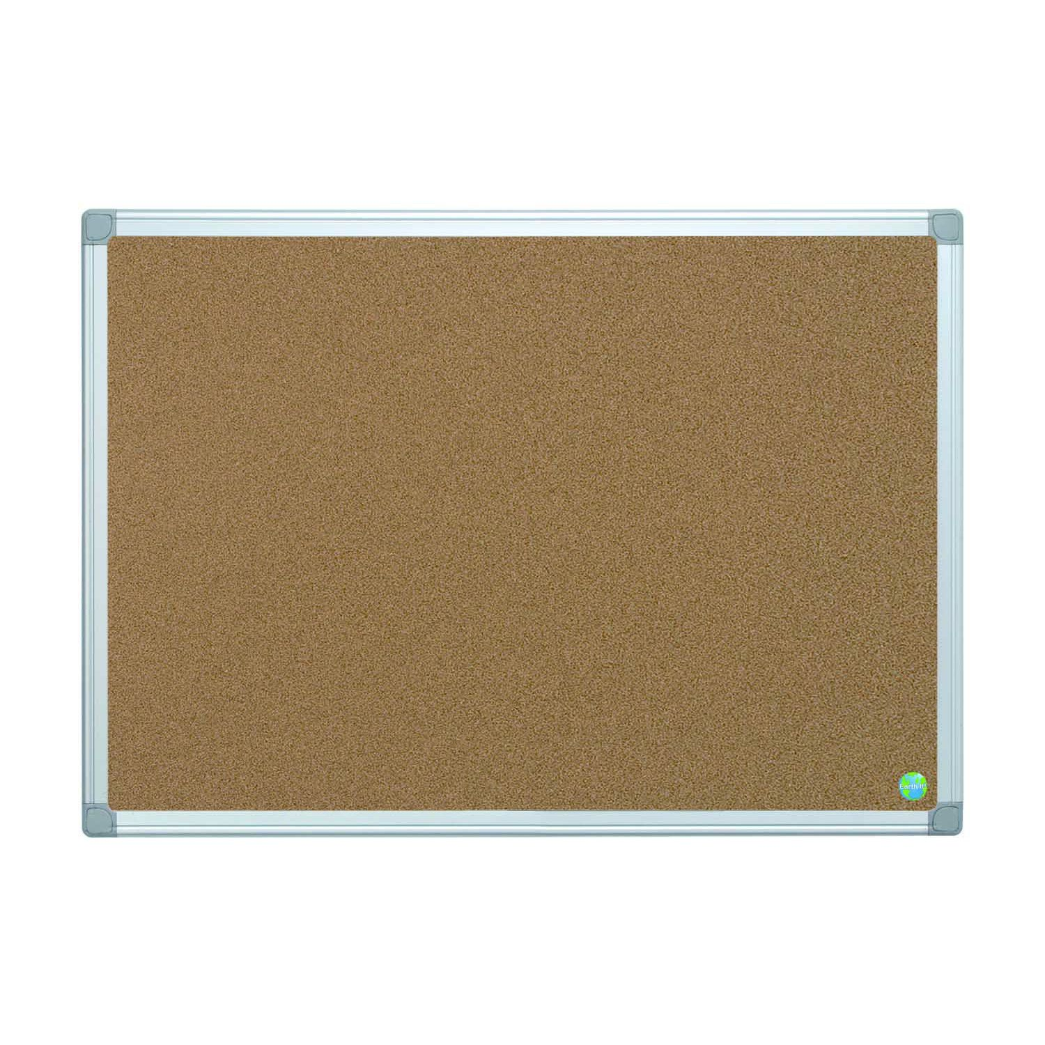 Bi-Office Earth-It Aluminium Frame Cork Noticeboard 900x600mm CA031790