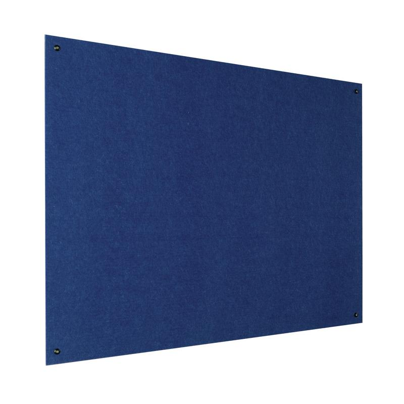 Metroplan Eco-Colour Resist-a-Flame Frameless Noticeboard 1200x900mm Blue UFB43/BL
