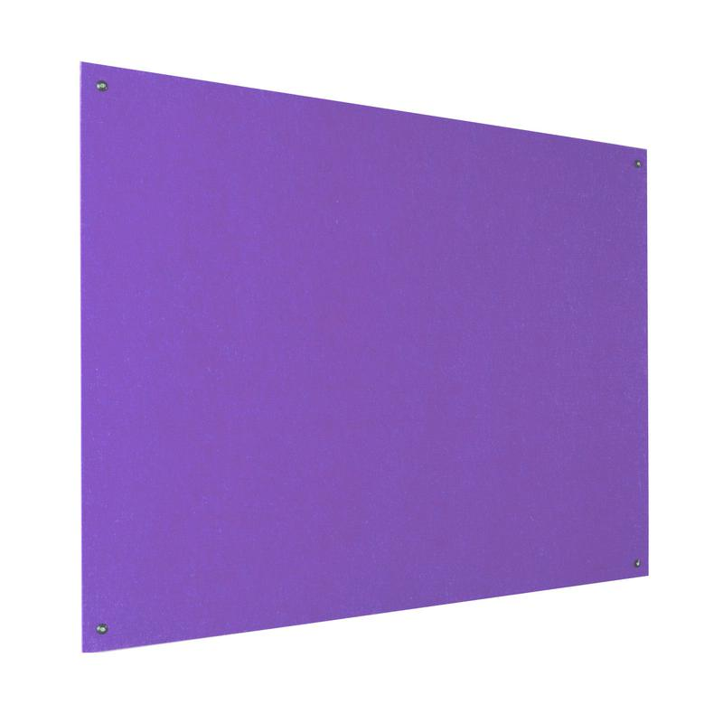Metroplan Eco-Colour Resist-a-Flame Frameless Noticeboard 1200x900mm Purple UFB43/PU