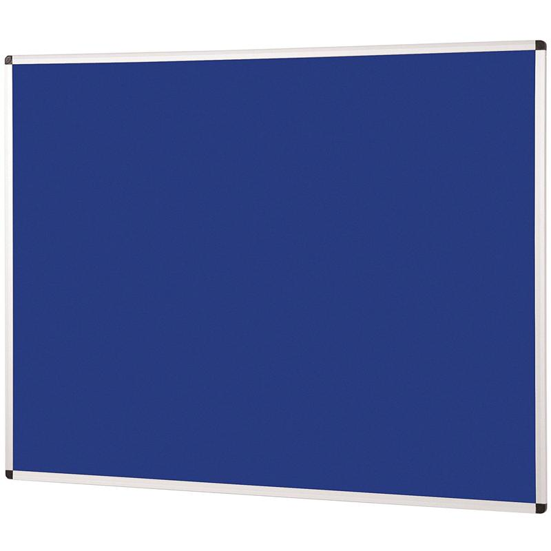 Metroplan Aluminium Framed Noticeboard 900x600mm Blue 44532/DB
