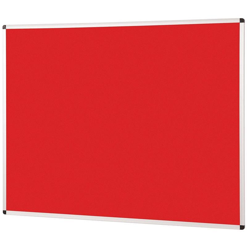 Metroplan Aluminium Framed Noticeboard 1200x900mm Red 44543/RD