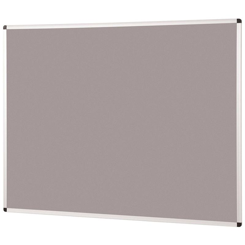 Metroplan Aluminium Framed Noticeboard 2400x1200mm Grey 44584/LG