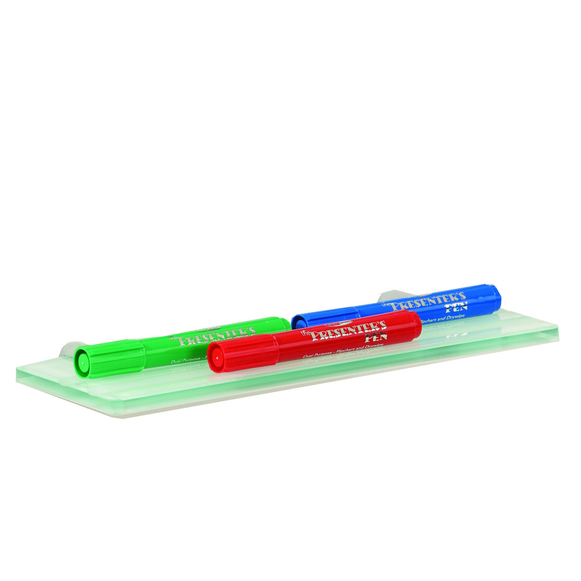 Metroplan WriteOn Magnetic Glass Whiteboard Pen Tray 300x100mm