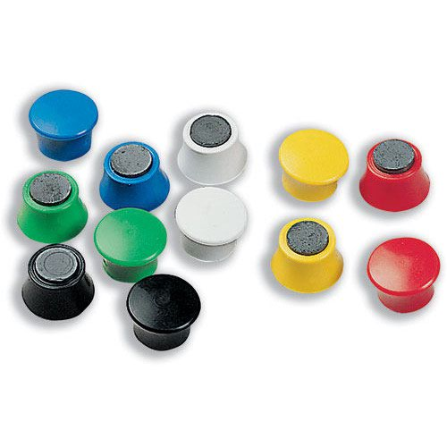 Nobo Magnetic Drawing Pins Assorted Colours 1901102