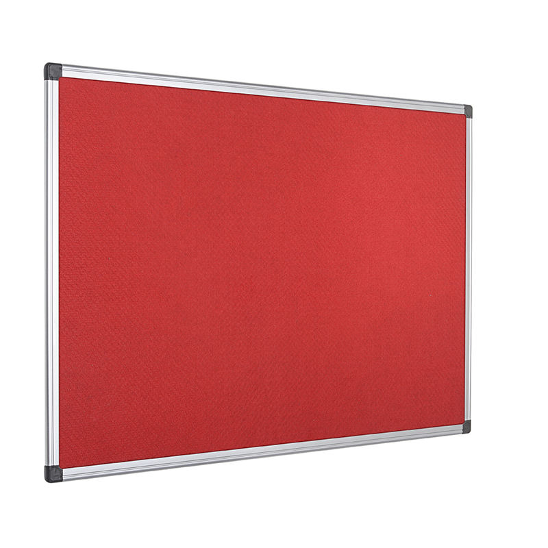 Bi-Office Red Felt 900x600mm Board