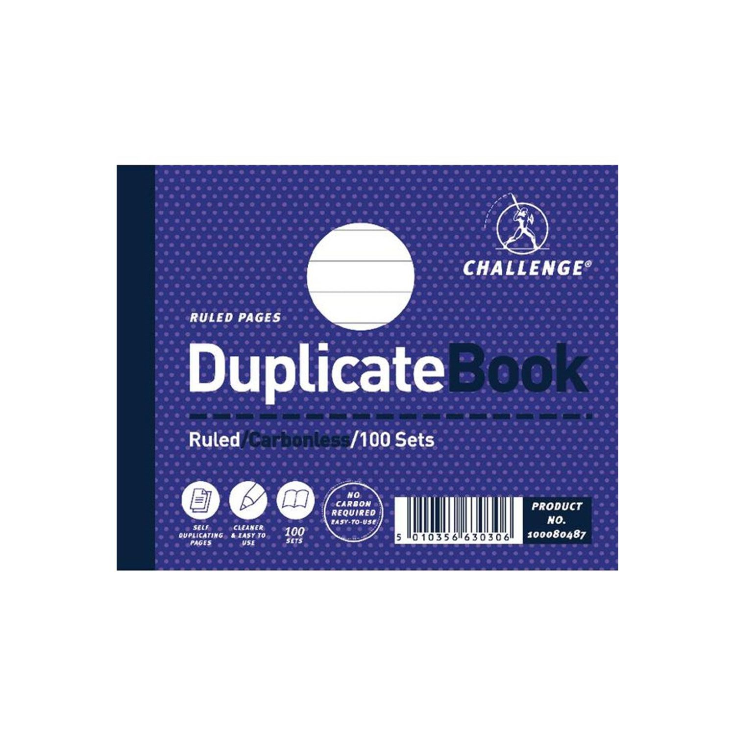 Image for Challenge Duplicate Book 105x130mm Ruled 100sets 100080487