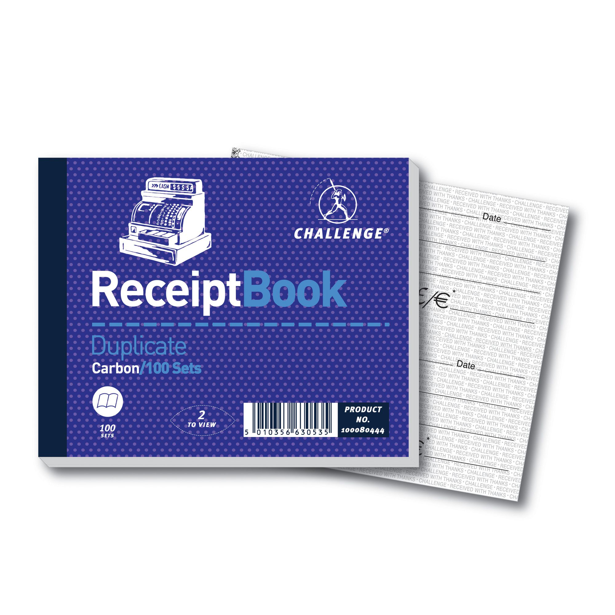 Image for Challenge Duplicate Book 105x130mm Receipt 100sets 100080444