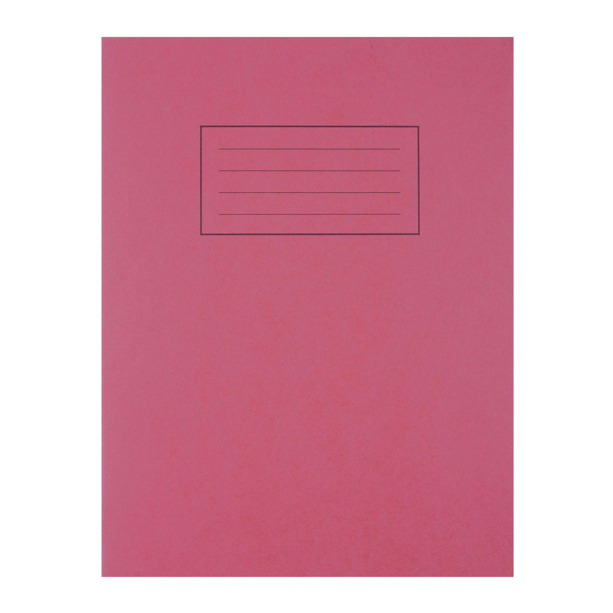 Silvine Exercise Book 80pages Ruled & Margin A4 Red EX107