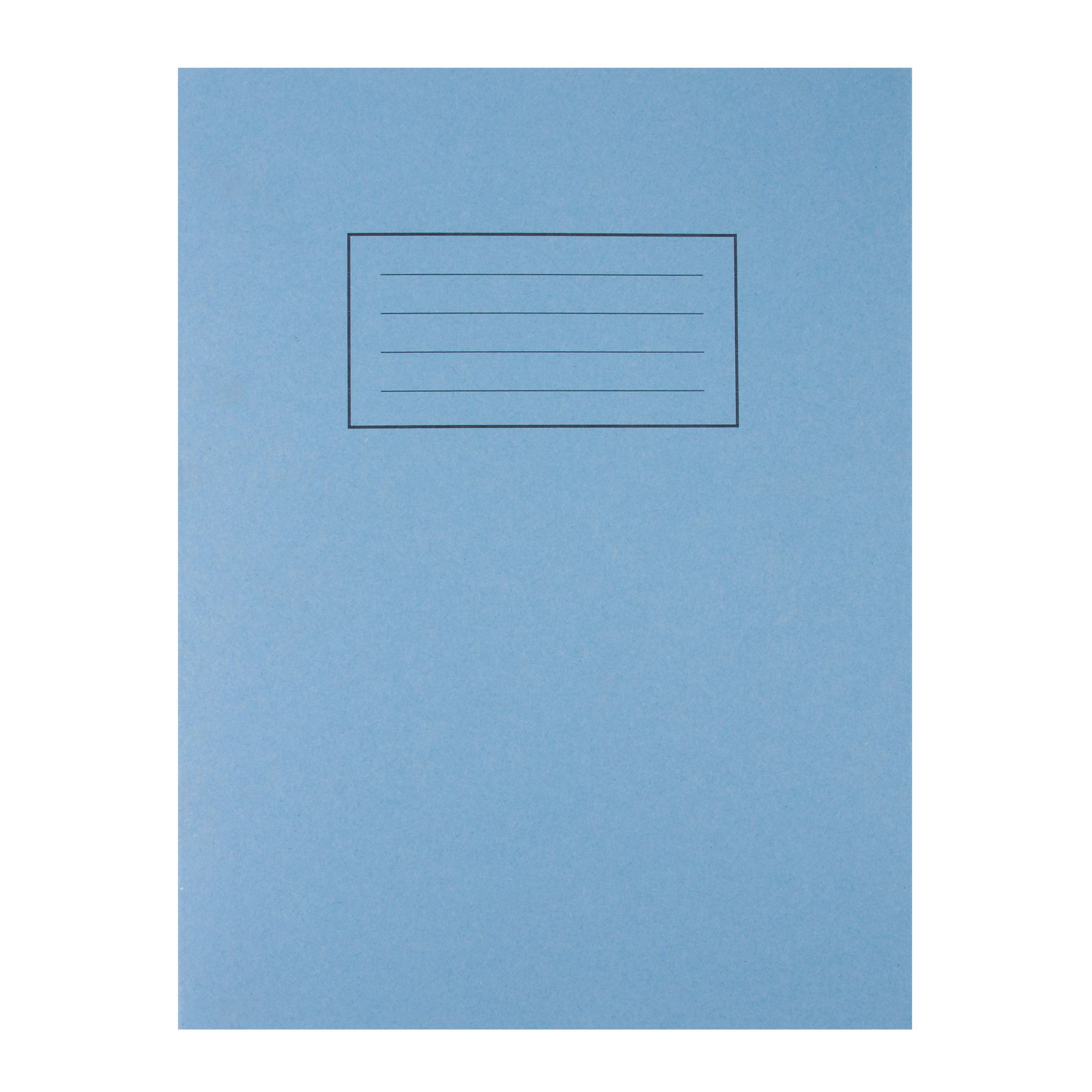 Silvine Exercise Book 80pages Plain A4 Blue EX114