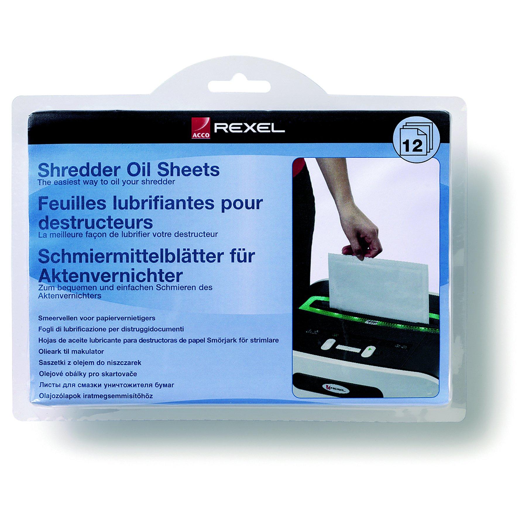 Rexel Shredder Oil Sheets (12) 2101948
