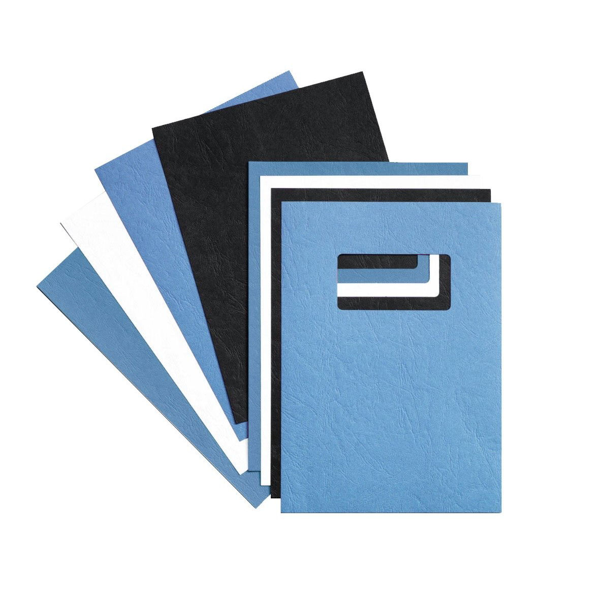 Rexel Binding Covers Window A4 Leathergrain Blue (25) 46735