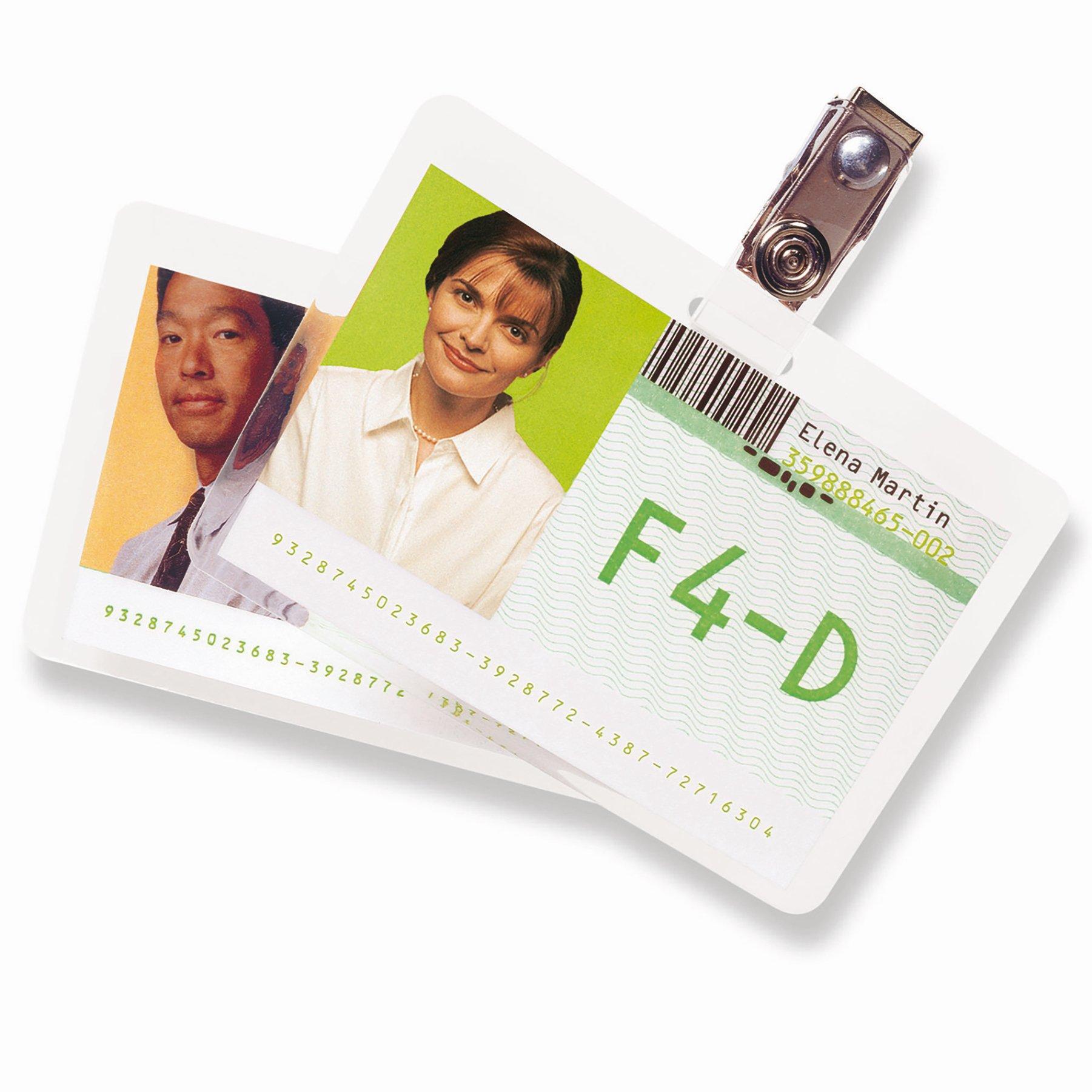 GBC Premium Quality Badge Card Laminating Pouch 67x98.5mm (100) 3743177