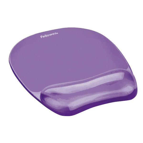Fellowes Crystal Gel Mouse Pad Purple 91441