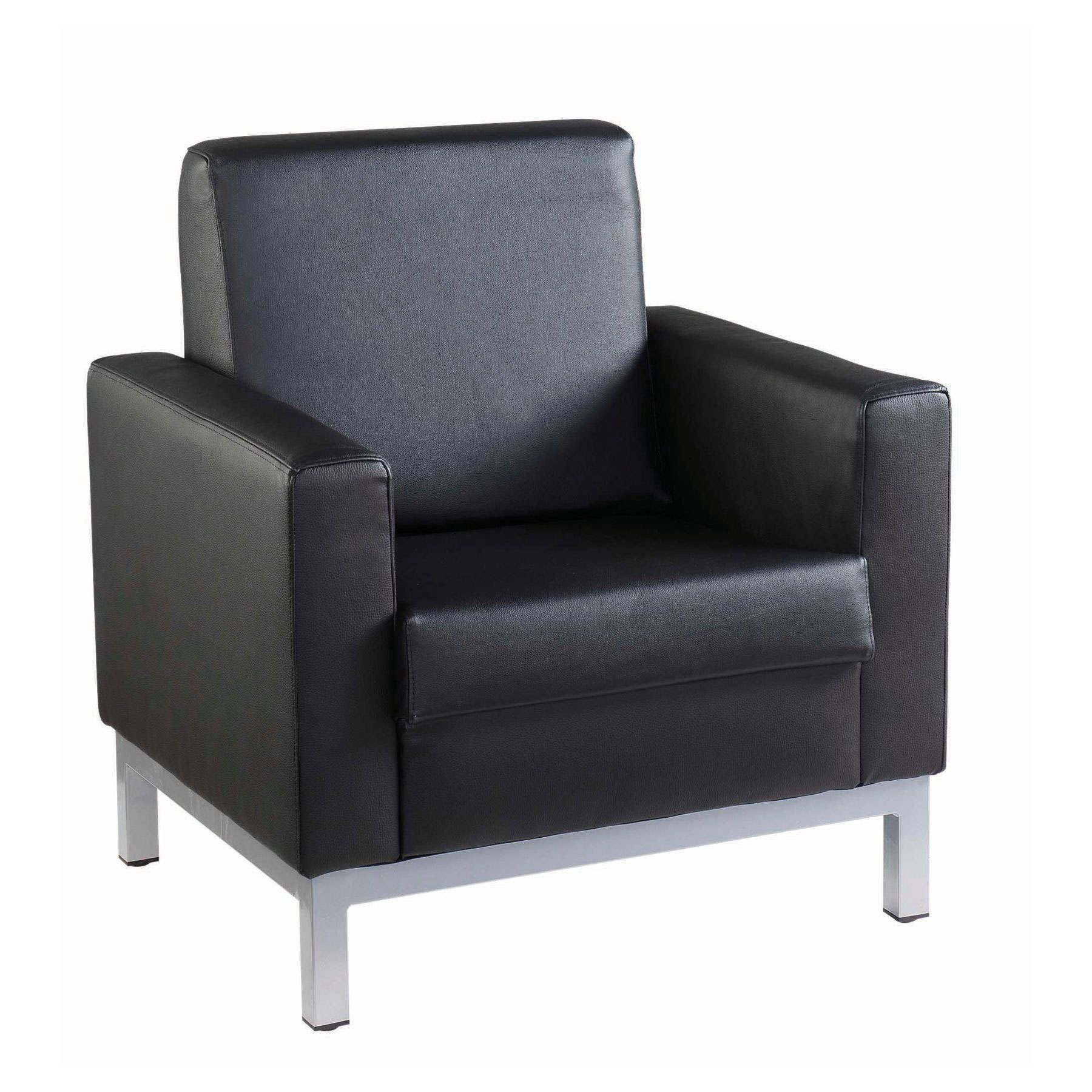 Helsinki Leather Faced Reception Seating Single