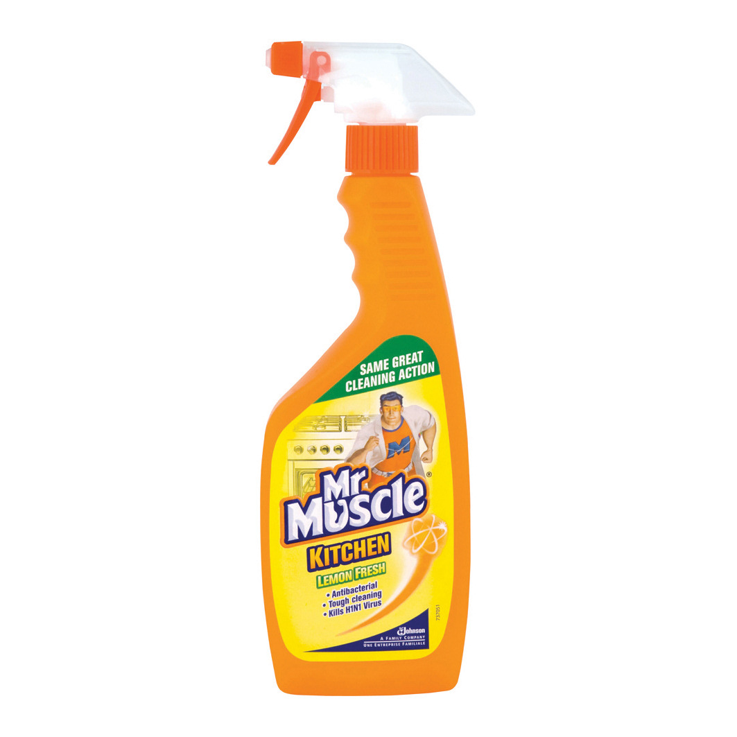 Mr Muscle Kitchen Cleaner Lemon Trigger Spray for All Kitchen Surfaces 5 in 1 500ml Ref 1004040