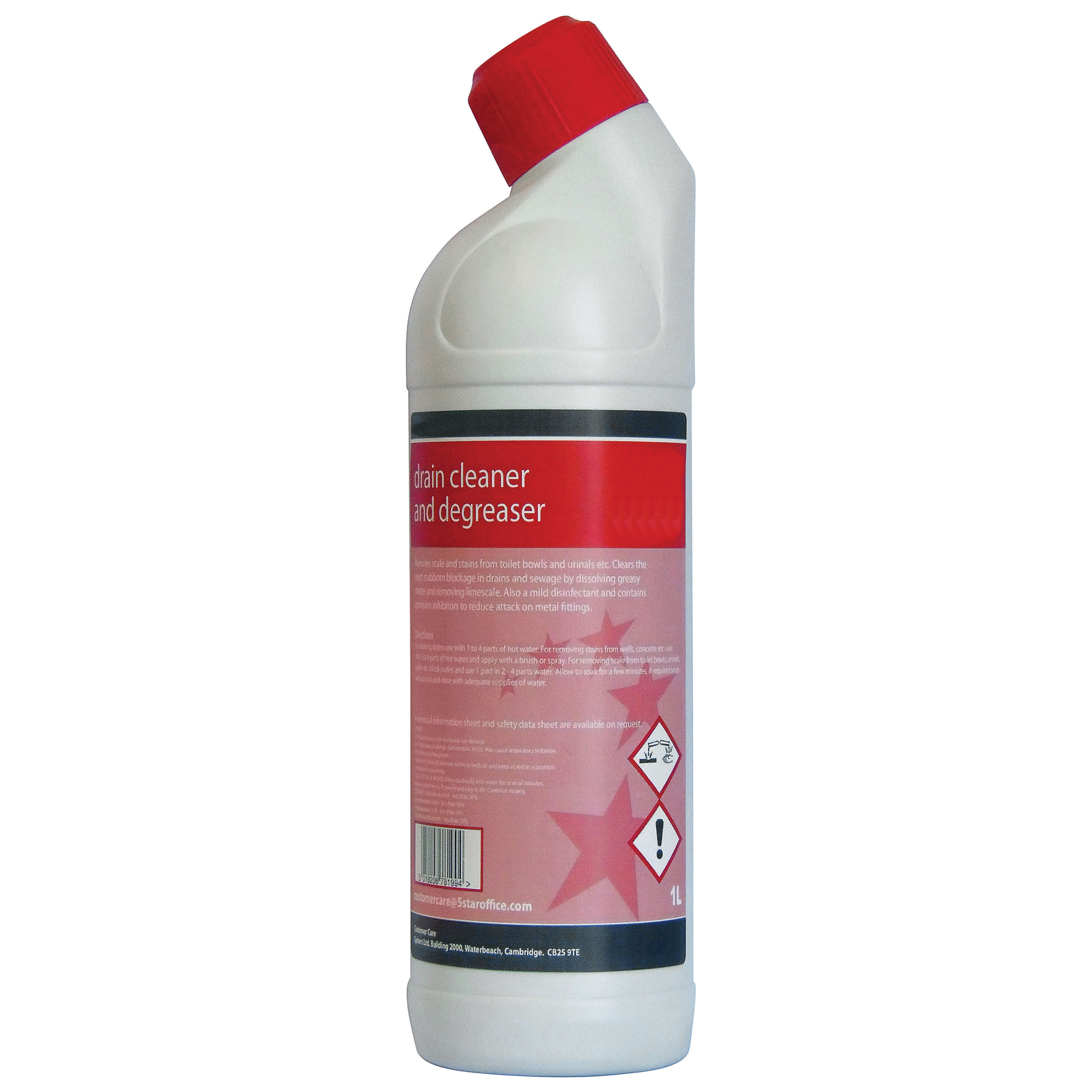 5 Star Facilities Drain Cleaner and Degreaser 1 Litre