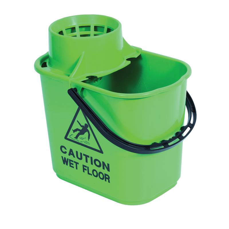 Mop Wringer Bucket 15litre Green SM15GREEN