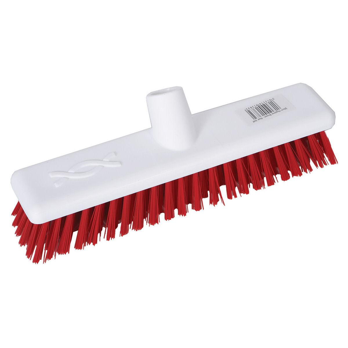 Robert Scott & Sons Abbey Hygiene Broom Head Hard Washable 12in Red Ref 102903RED