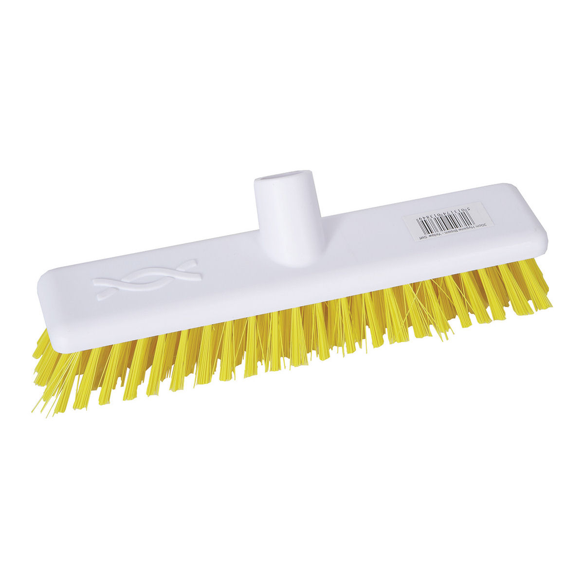 Robert Scott & Sons Abbey Hygiene Broom Head Hard Washable 12in Yellow Ref 102903YELLOW