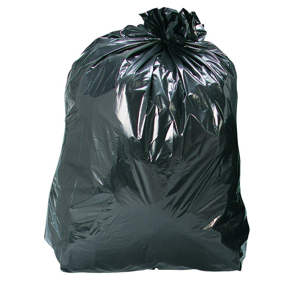 Refuse Sack Medium Duty Recycled 110 Litre 450x735x990mm 25mic Black (200)