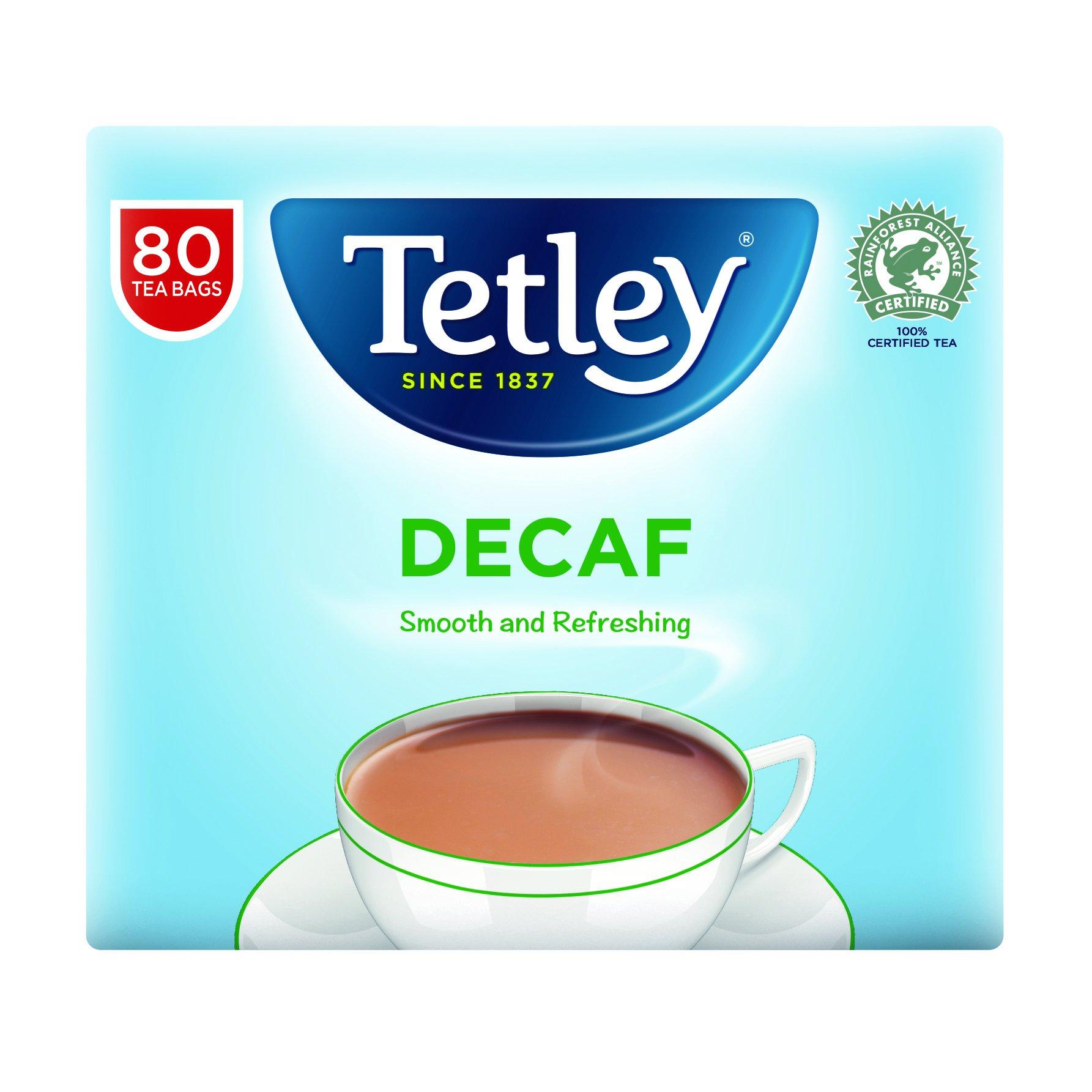 Tetley Decaffeinated Tea Bags (80)