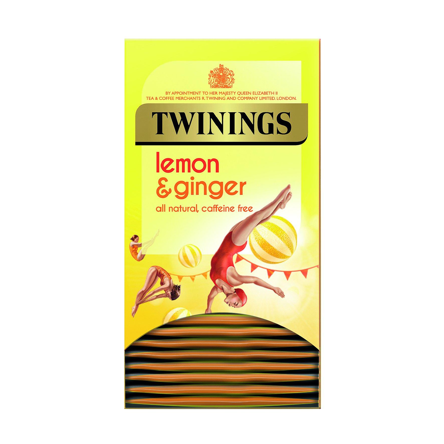 Twinings Wellbeing Blends Lemon & Ginger Tea Bags (20)