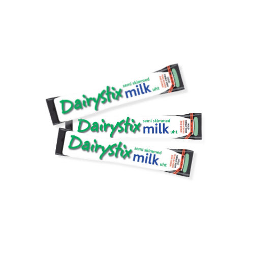 Dairystix UHT Milk Sticks Semi Skimmed 12ml (120)