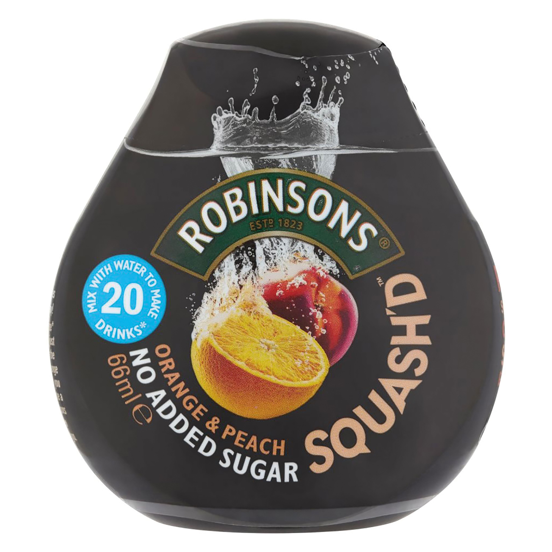 Robinsons SquashD No Added Sugar 66ml Orange & Peach Ref 0402040 [Pack 6]