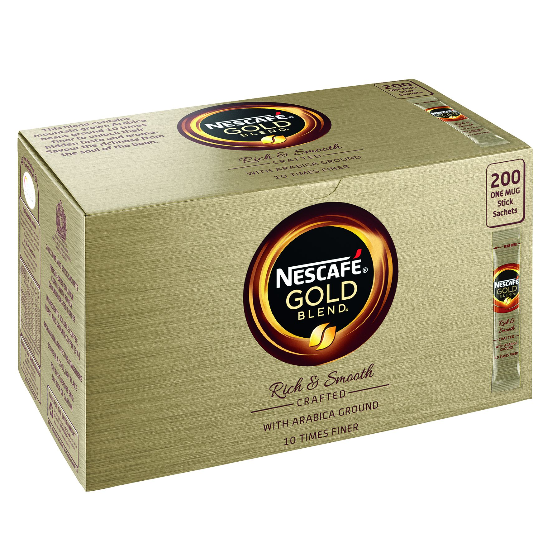 NESCAFE GOLD BLEND Coffee Sticks (200)